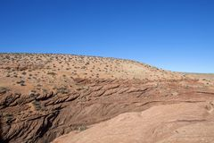 På Navajonationen i Arizona Royaltyfria Bilder