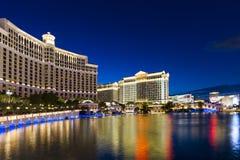 På Nigfht Las Vegas Arkivbild