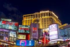 På Nigfht Las Vegas Arkivbilder
