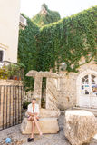 På området av gamla Budva Montenegro Royaltyfria Bilder