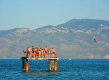 På Pantone Baska, Kroatien royaltyfria bilder