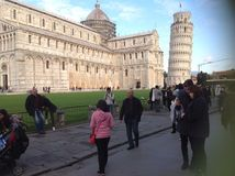 På Pisa Arkivfoton