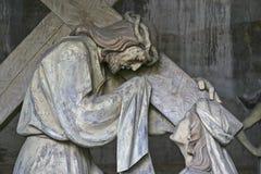 På Sacro Monte Calvario Arkivbilder