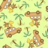På safari. vektor illustrationer