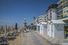 På semester i Lido di Jesolo (på stranden) Royaltyfria Foton