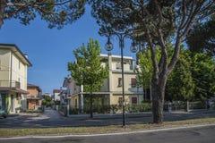 På semester i Lido di Jesolo (runt om staden) Royaltyfri Foto