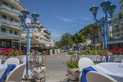 På semester i Lido di Jesolo (runt om staden) Royaltyfria Bilder