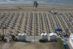 På semester i Lido di Jesolo (sikter till stranden) Royaltyfri Bild