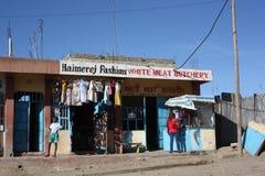 På shoppar kenya Royaltyfri Bild