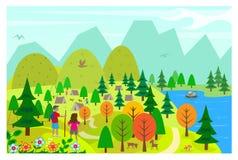 På sjön royaltyfri illustrationer