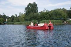 På sjön i Polen arkivbild