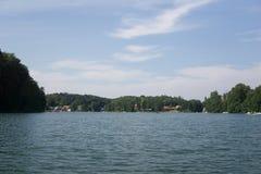 På sjön i Polen royaltyfria bilder
