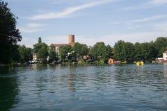 På sjön i sommar royaltyfri fotografi