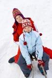 På snowen Royaltyfria Bilder