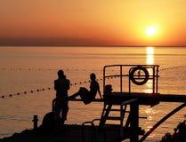 På soluppgången Royaltyfri Fotografi