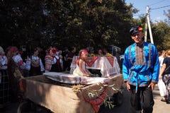 På sommartacksägelsefesten Moskvaregion, Ryssland Arkivbilder