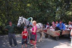 På sommartacksägelsefesten Moskvaregion, Ryssland Arkivfoton