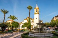 På stället av konstitutionen i den Dos Hermanas staden nära Sevilla i Spanien Fotografering för Bildbyråer