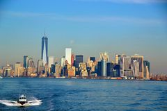 På Staten Island Ferry Royaltyfri Foto