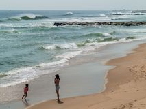 På stranden Royaltyfria Foton