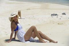 På stranden Royaltyfri Foto