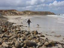 På stranden Fotografering för Bildbyråer