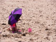 På stranden Aberdovey Royaltyfria Foton
