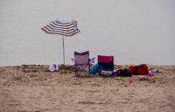 På stranden Aberdovey Royaltyfri Bild