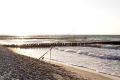 På stranden av Ahrenshoop Royaltyfria Bilder