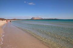 På stranden av La Cinta Arkivbild