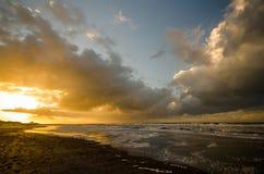 På stranden av Norderney i Tyskland Arkivfoto