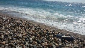På stranden Fiumefreddo Catania, Sicilien Royaltyfria Bilder