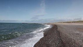 På stranden i Agger lager videofilmer