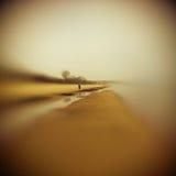 På stranden Konstnärlig blick i lensbaby sikt Gelatinstil Royaltyfri Foto