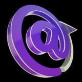 På-symbolet visar E-brevskickanden för att meddela på kontoret Arkivbild