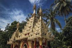 På territoriet av en buddistisk tempel Georgetown, Penang, Malaysia arkivbild