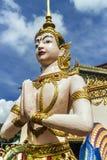På territoriet av en buddistisk tempel Georgetown, Penang, Malaysia arkivfoton