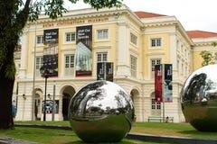 På territoriet framme av det asiatiska civilisationmuseet Royaltyfria Foton