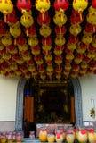 På territoriet Kek Lok Si Temple arkivbilder