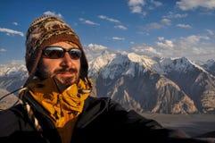 På toppmöte i Kirgizistan Fotografering för Bildbyråer