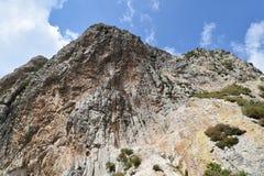 På tredje plats av världens största berg royaltyfria bilder