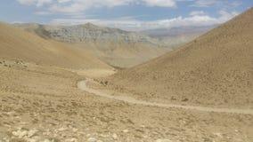 På vägen till övremustanget Nepal arkivbilder