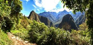 På vägen till Machu Picchu, Peru Arkivbilder