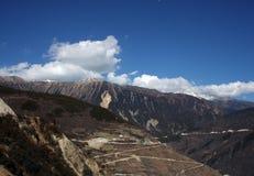 På vägen till Shangrila Kina Fotografering för Bildbyråer
