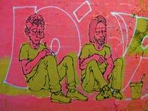 På vårt morgonavbrott - Street Art av Valencia royaltyfria bilder