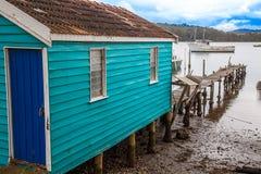 På Wallaga sjön i Narooma Australien royaltyfri fotografi