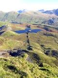 På Y Garn (Nantlle Ridge) Snowdonia, Wales. Arkivfoton