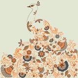 Påfågel Vektor Illustrationer