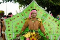 Påfågelmanen, Chiang Mai ståtar royaltyfri foto