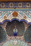 Påfågeln utfärda utegångsförbud för, stadsslotten Jaipur Royaltyfria Foton